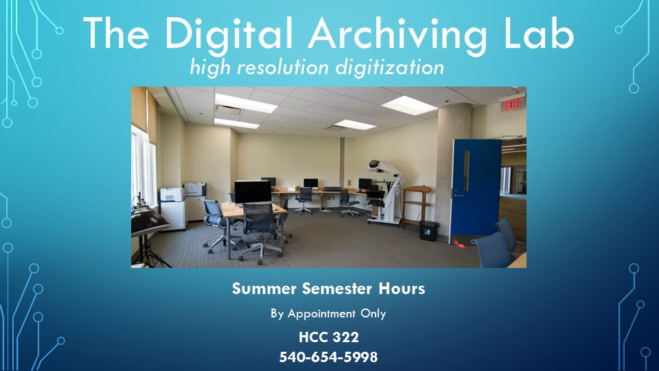digital-archiving-lab-summer-semester-hours